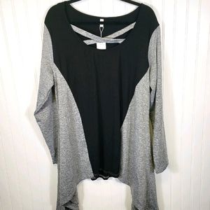 NWT Gray And Black Tunic Top